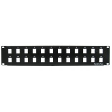 24 port Blank Patch Panel Black