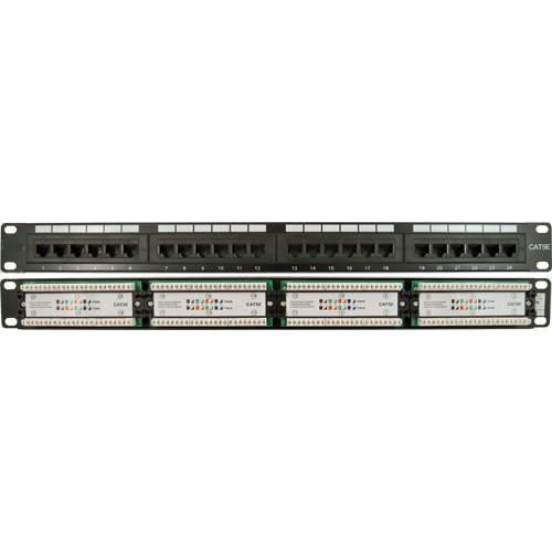 CAT5E 24 Port, 110 IDC Patch Panel | 1U