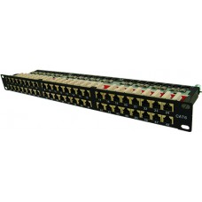 CAT6A 48 Port Shielded Krone Type Patch Panel 1U
