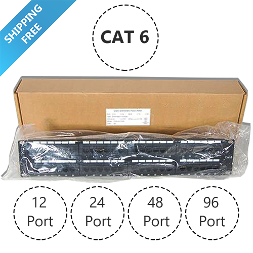 CAT6 24 Port 110 IDC Networking Patch Panel 1U