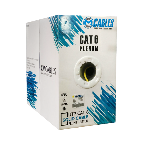 1000FT CAT6 PLENUM UTP SOLID BULK ETHERNET NETWORK CABLE 550 MHZ 23 AWG