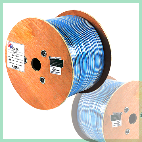 CAT6A RISER SOLID COPPER UL CERTIFIED 1000FT UTP BULK ETHERNET CABLE - FREE SHIPPING