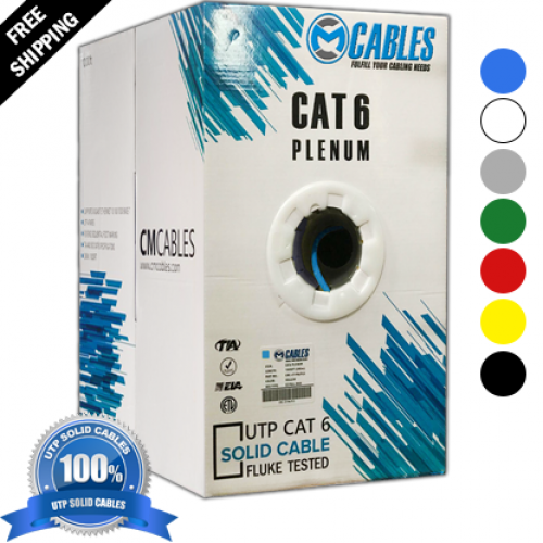 Cat6 plenum $159.99 1000ft utp 550 Mhz 23 AWG Cable - FREE SHIPPING