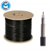 RG11 Direct Burial 1000FT Black 3GHz 75 Ohm 14 AWG Coaxial Digital Broadcast TV Cable CM