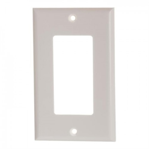 Decora Wall Plate white 1 Gang