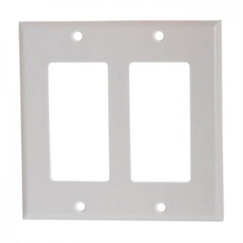 Decora wall plates white dual Gang