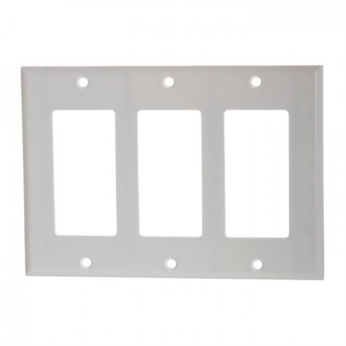 Decora wall plates white - 3 Gang