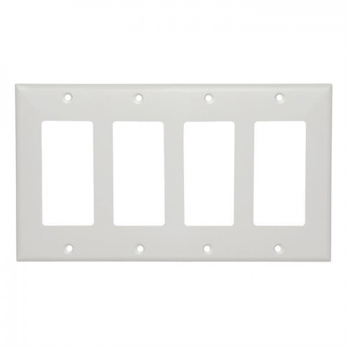 Four-Gang White Decora Wall Plate