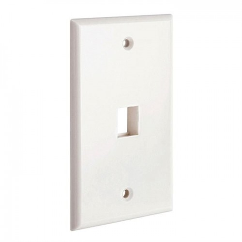 1 port Keystone wall plate for standard keystone jacks