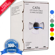1000FT CAT6 NON-PLENUM UTP BULK PVC ETHERNET CABLE - FREE SHIPPING