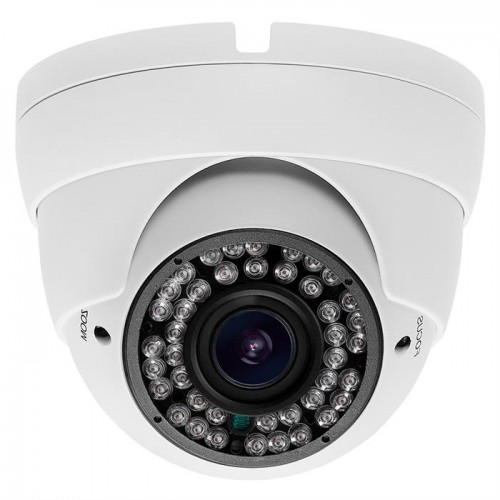 HD Security Camera CVI IR Dome 2MP 2.8-12mm Varifocal White Color