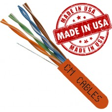 1000ft Cat6 Spline less Solid Bare Copper UTP Cable Made in USA